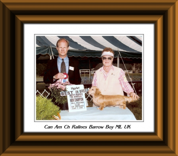 Picture Frame 2 Can Am Ch Ralines Barrow